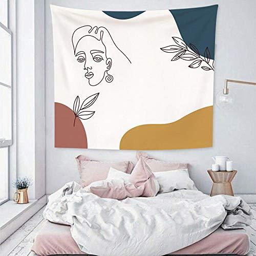 bjyxszd Cortinas Decoradas,Tela Decorativa paredTapiz de decoración de Dormitorio de cabecera Simple,Tapiz de Tela roja de Tela de Fondo Abstracto de Personaje de Color 3D-10_El 100x70cm