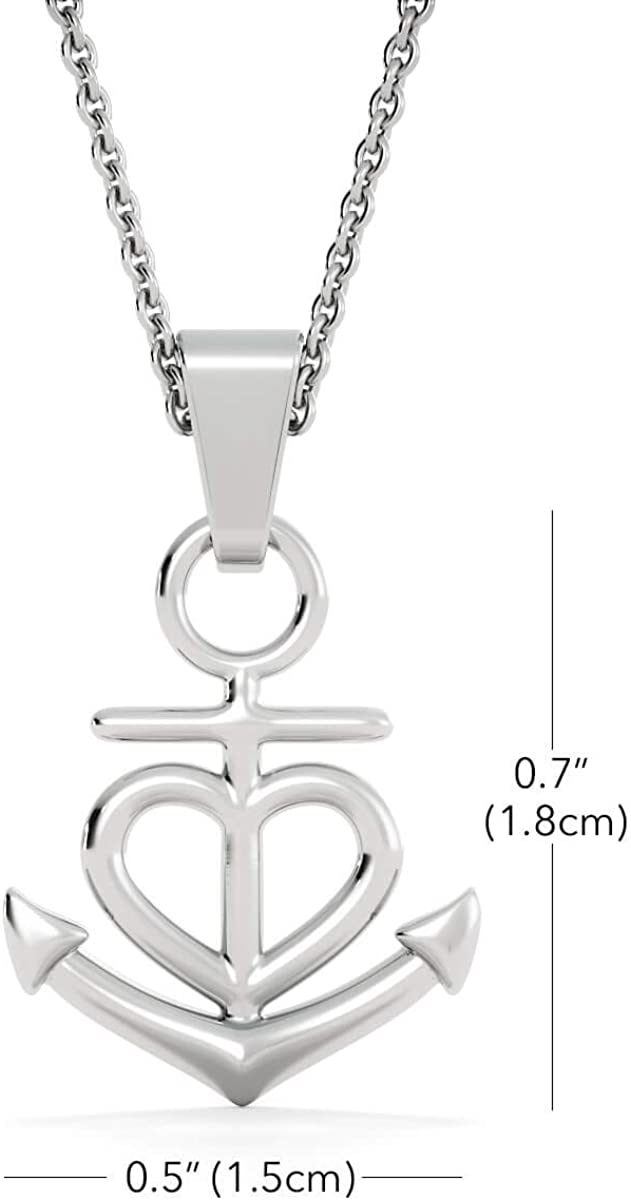 You are Like a Mom Anchor Pendant Necklace KINDPAW for Mother in Law