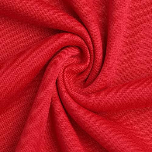 MITEHUAH Primavera y otoño Nuevo suéter Casual Llorando Cara impresión Redondo Cuello suéter de Hombre Europeo y Americano Gran tamaño Personalidad Top (Color : Red, Size : XL)