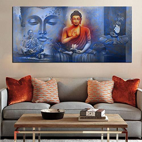 cgsmvp Großformat Druck Ölgemälde Wandmalerei Buddha Poster Wandkunst Bild für Wohnzimmer Home Decor Malerei/60x120cm-kein Rahmen