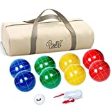 Bocce Balls Set 90mm for Backyard Lawn Beach Outdoor Family Bocci Yard Game for Kids, Set of 8 Polyresin...
