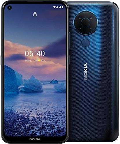 Nokia 5.4 Smartphone 4G Dual Sim, Display 6.39' HD+, 128GB, 4GB RAM, Quad Camera, Android 11, Batteria 4500mAh, Blue [Italia]