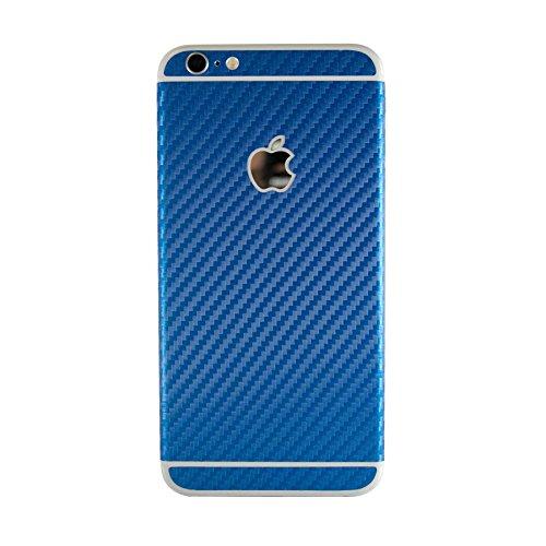 Vinilo adhesivo con textura de fibra de carbono azul para iPhone 6/6S modelo de 4,7 pulgadas