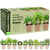 9 Herb Window Garden - Indoor Organic Herb Growing Kit - Kitchen Windowsill...