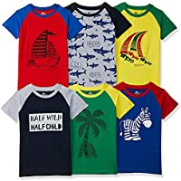 SOUTH SAILOR Boy's T-Shirt (Pack of 6)