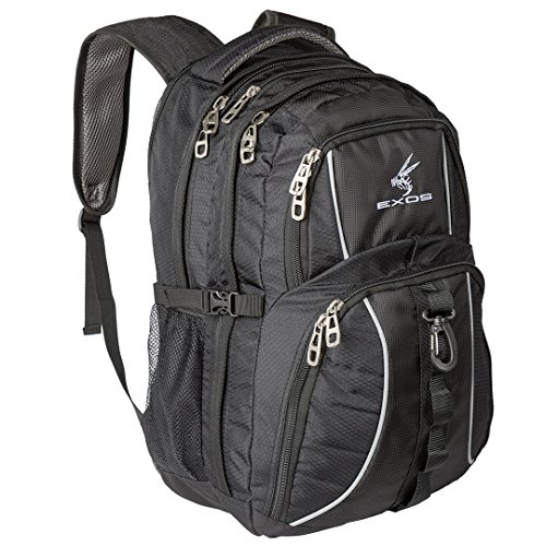 Exos Backpack, (Laptop, Travel, School or Business) Urban Commuter (Black)