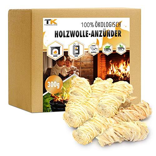 Encendedores de madera natural - Pastillas encendido chimenea ecológicas - Ideal para encender barbacoa, fuego y estufa (300 g)