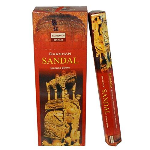 Incienso Sandal Sándalo Aroma 6Paquetes de 20varillas Ambientador