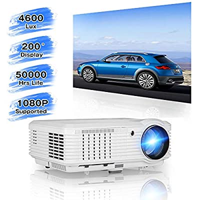 Caiwei LCD Video Projector HD 1080P Support-Factory Outlet by ZCGIOBN