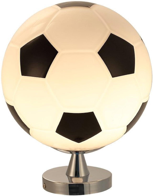 LED Fuball Lampe 3D, DINOWIN Dimmbares Tischlampe schwarz-wei Nachttischlampe Kinderzimmer Dekoration Tischlampe (Schwarz)