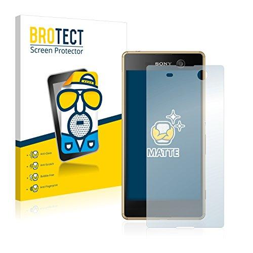 BROTECT 2X Entspiegelungs-Schutzfolie kompatibel mit Sony Xperia M5 Bildschirmschutz-Folie Matt, Anti-Reflex, Anti-Fingerprint
