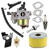 16100-ZH8-W61 Carburetor for Honda Carb GX120 GX160 GX140 GX 160 GX168 GX200 168F 5HP 5.5HP 6.5HP WP30X Water Pump Pressure Washer Engine w 17210-ZE1-505 Air Filter Tune Up Kit