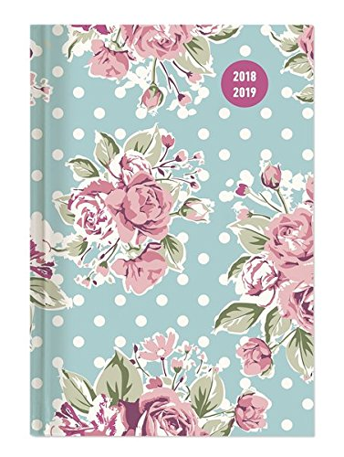 Collegetimer Roses 2018/2019 - Schülerkalender A6 - Weekly - 224 Seiten