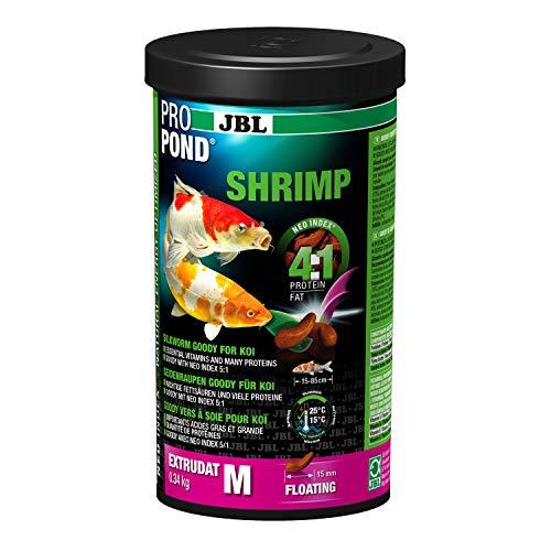 JBL Crevettes pour Koïs, Extrudats Flottants, Friandise, ProPond Shrimp, 0,34 kg