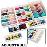 Uncluttered Designs, Schubladen-Organizer aus Kunststoff, plastik, weiß, 6 set
