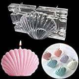 Stampo per fabbricazione di candele Stampo in plastica per conchiglie Stampo per capesante Stampo per aromaterapia Stampo per sapone fatto a mano per la decorazione della casa