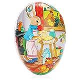 com-four® Huevo de Pascua XL para Rellenar - Huevo de Pascua Grande para Rellenar - Huevo de Pascua Muy Grande con Muchos Motivos de Pascua [la selección varía]