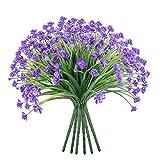 Famibay Flores Artificiales Decoracion Pequeñas Flores de Plastico Exterior Interior Planta de Flores para Hogar Jardinera Boda Mesa Jardin