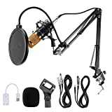 Voilamrt USB Streaming Podcast PC Microphone,...