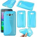 ebestStar - Funda Compatible con Samsung Grand Prime Galaxy G530F, Value Edition G531F Carcasa Gel Silicona Gel TPU Motivo S-línea, S-Line Case Cover, Azul [Aparato: 144.8 x 72.1 x 8.6mm, 5.0'']