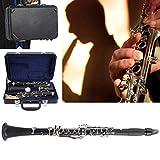 Clarinete, clarinete BB key, con paño de limpieza guantes 10 lengüetas destornillador estuche de lengüeta Instrumento de viento