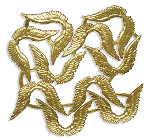 Walter Kunze GmbH Engelsflügel, 7 x 4,5 cm, Gold, 10 Stück auf Blatt, aus geprägtem Papier