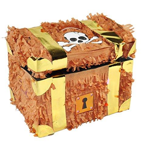 Forziere del tesoro Trendario Pinata: ideale da riempire con dolci e regali, per feste di compleanno di bambini e giochi