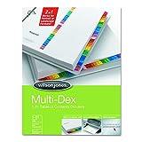 Wilson Jones MultiDex Index Dividers, Numbered 1-31, 31 Tabs per Set, Letter Size, Multi-Color (W90103B)