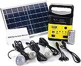 N\A Panel Solar Panel Solar 6V 6W portátil AC Solar Kit de energía Solar Sistema de generador portátil for Acampar bulbos con - Amarillo (Color : Yellow, Size : -)