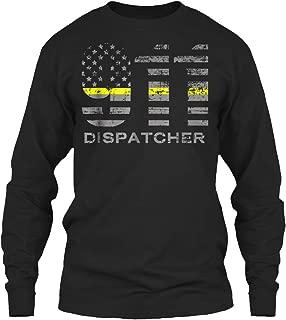 911 Dispatcher Thin Gold. Long Sleeve Tshirt - Gildan 6.1oz Long Sleeve Tee