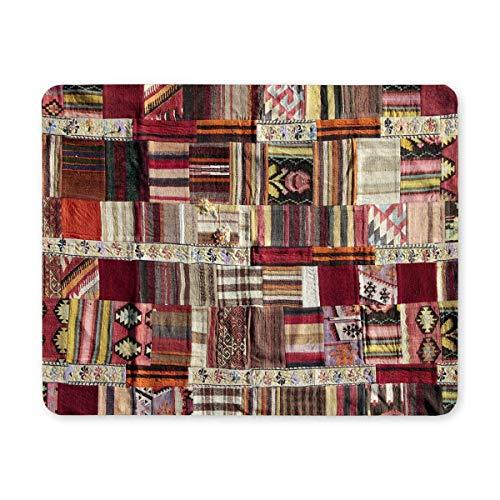 Ethnisches Patchwork von Tribal Aztec Turkish Design Rectangle rutschfeste Gummi-Mauspad, Gaming-Mauspad-Mausmatte für Office Home Woman Man Employee Boss Work