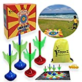 Crazy Monkey, 4 Lawn Darts Game for Yard Park Beach Fun Outdoors Sport Game for Kids Teen and Adults Great...