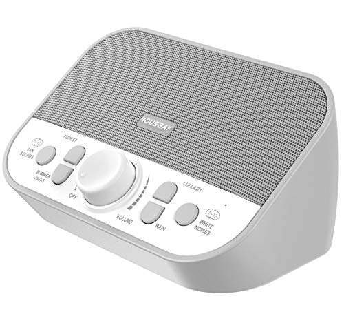 Housbay Sound Machine - White Noise Machine for Sleeping with 28 Soothing Sounds Headphone Jack High Quality Speaker 4 Sleep Timer Sound Therapy for Baby Kids Adults Seniors Gray