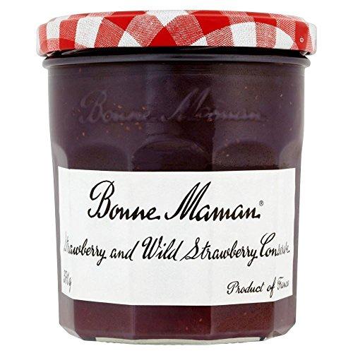 Bonne Maman Strawberry and Wild Strawberry Conserve (370g) ボンヌママンのイチゴと野生のイチゴの節約( 370グラム)