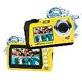 Easypix W3048 Edge Yellow – Fotocamera subacquea, 48 MP doppio schermo