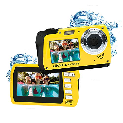 Easypix W3048 Edge wasserdichte Kamera, 48 MP, Dual-Display