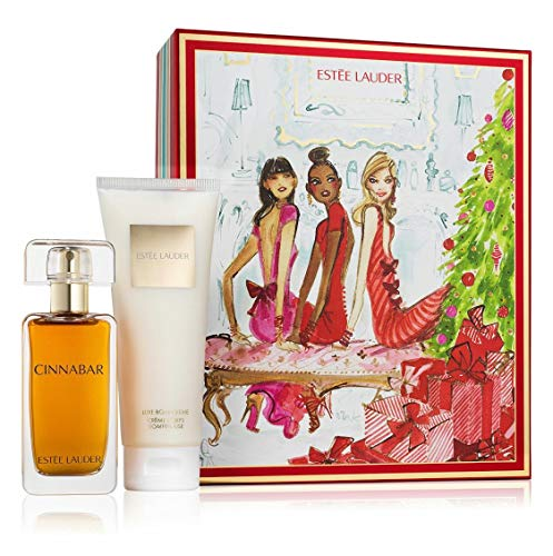 Estee Lauder Cinnabar Exotic Duo Eau De Parfum 1.7 Fl. Oz. Body Lotion 3.4 Fl. Oz. For Women Set