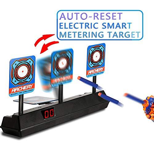 Zielscheibe für Nerf Elektronisches Digitales Schießziel mit Light Sound Effect Automatisch Zurückgesetzt Ziel für Nerf Geschenke für Jungs