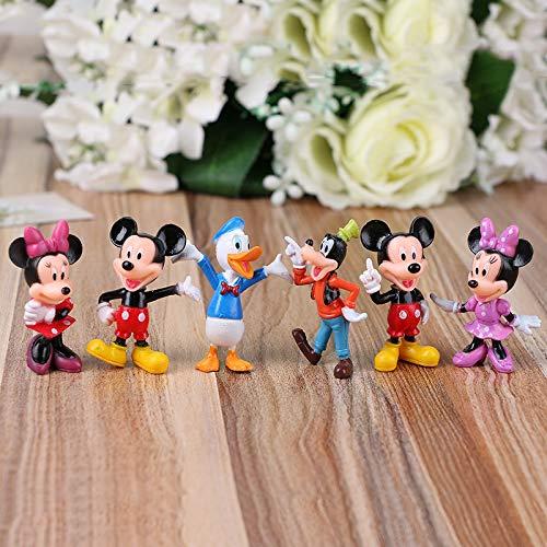 Figura Juguete 6 Unids / Mickey Mouse Minnie Mouse Clubhouse Fiesta De Cumpleaños Pastel Decoración PVC Anime Figura Juguetes para Niños