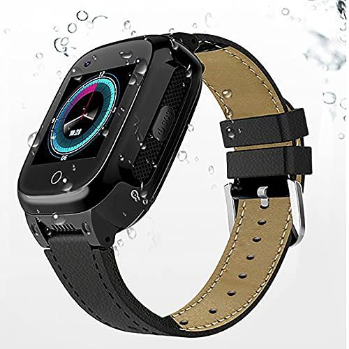 FVIWSJ Niños/Mayores Smartwatch Impermeable,Reloj Inteligente Phone con LBS Tracker SOS Chat Voz Cámara Despertador Cálculo para Regalos Compatible con iOS Android