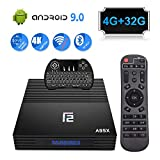 TV Box Android 9.0 4GB Ram 32GB A95X Smart Android TV Box with Wireless Keyboard...