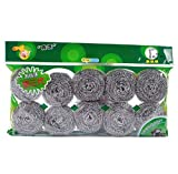 YiXing Cepillo de bola de limpieza de acero inoxidable para lavar platos, eliminar manchas, alambre de cocina, accesorios de cocina (color: 10 unidades, 13 g)