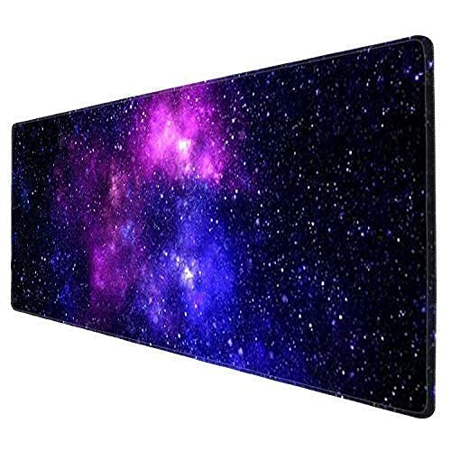 Galdas Gaming Mouse Pad XXL XL Large Mouse Pad Long Extended Big Mousepad Non-Slip Rubber Keyboard Mouse Pad with Stitched Edges for Laptop Home Office (31.5x11.8x0.08 Inch) … (Outer Space)