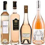 Best of Provence - Lot de 4 bouteilles - Minuty Prestige - Château de Berne - Studio de Miraval - Esclans Rock Angel - Côtes de Provence Rosé 2019 (4 * 75cl)