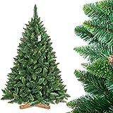 FairyTrees Árbol de Navidad Artificial Pino, Natural Verde, Material PVC, Las piñas verdaderas, el...