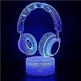 ZCHPDD Cadeau Visuel Lumière Télécommande Tactile Interrupteur USB LED Cadeau Intérieur Jouet 3D Mignon Nuit Lumière Bande Dessinée Jouet Sept Couleurs 85 * 85 * 37Mm (Base De Fissure + Tactile)