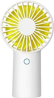 Mini Ventilador Portátil con USB Batería Recargable 3 Velocidades Ajustables para Dormitorio, Oficina, Viajes(Blanco)