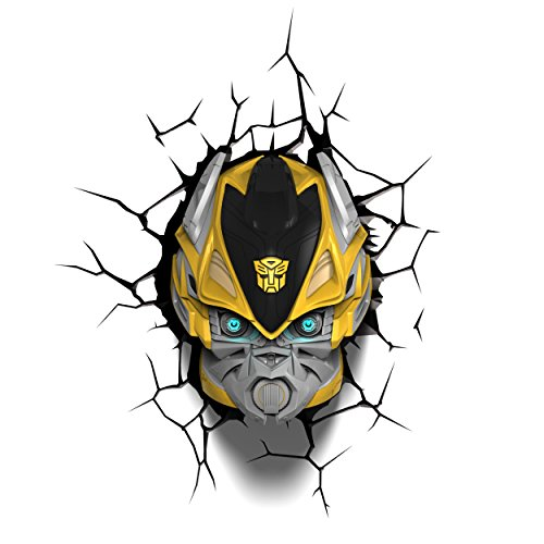 3D Light Fx 3Dfx-84053 Lampe LED Transformers Bumble Bee, en plastique, multicolore, 23 x 15 x 31 cm