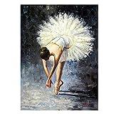 HJKLP Cuadro De Pared De Bailarina De Ballet Arte De Pared De Bailarina PóSter De SalóN De Baile ImpresióN Pintura De Lienzo Vintage para Decoracion De Salon De Estar 60x90cm Sin Marco