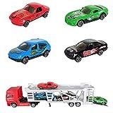 Bascar Juguete de aleación para niños, minisimulación de coche, juguete para adultos y niños, color rojo
